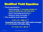 modified yield equation