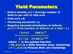 yield parameters