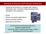 enterprise architecture and production architecture