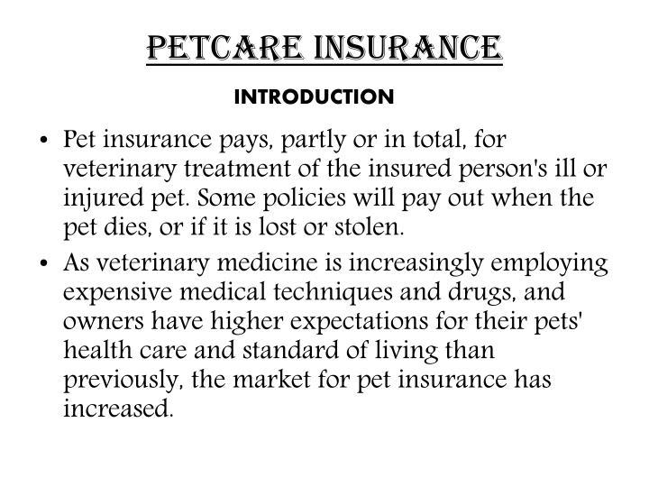 Petcare insurance