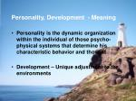 personality development meaning