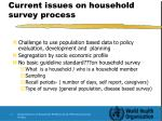 current issues on household survey process
