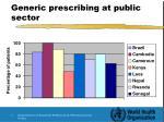 generic prescribing at public sector