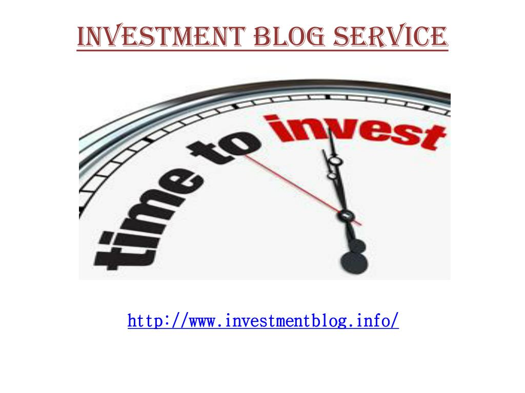 investment blog service