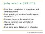 quality manual can iso 10013