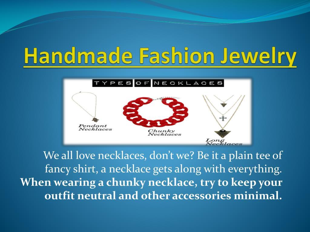 handmade fashion jewelry l.