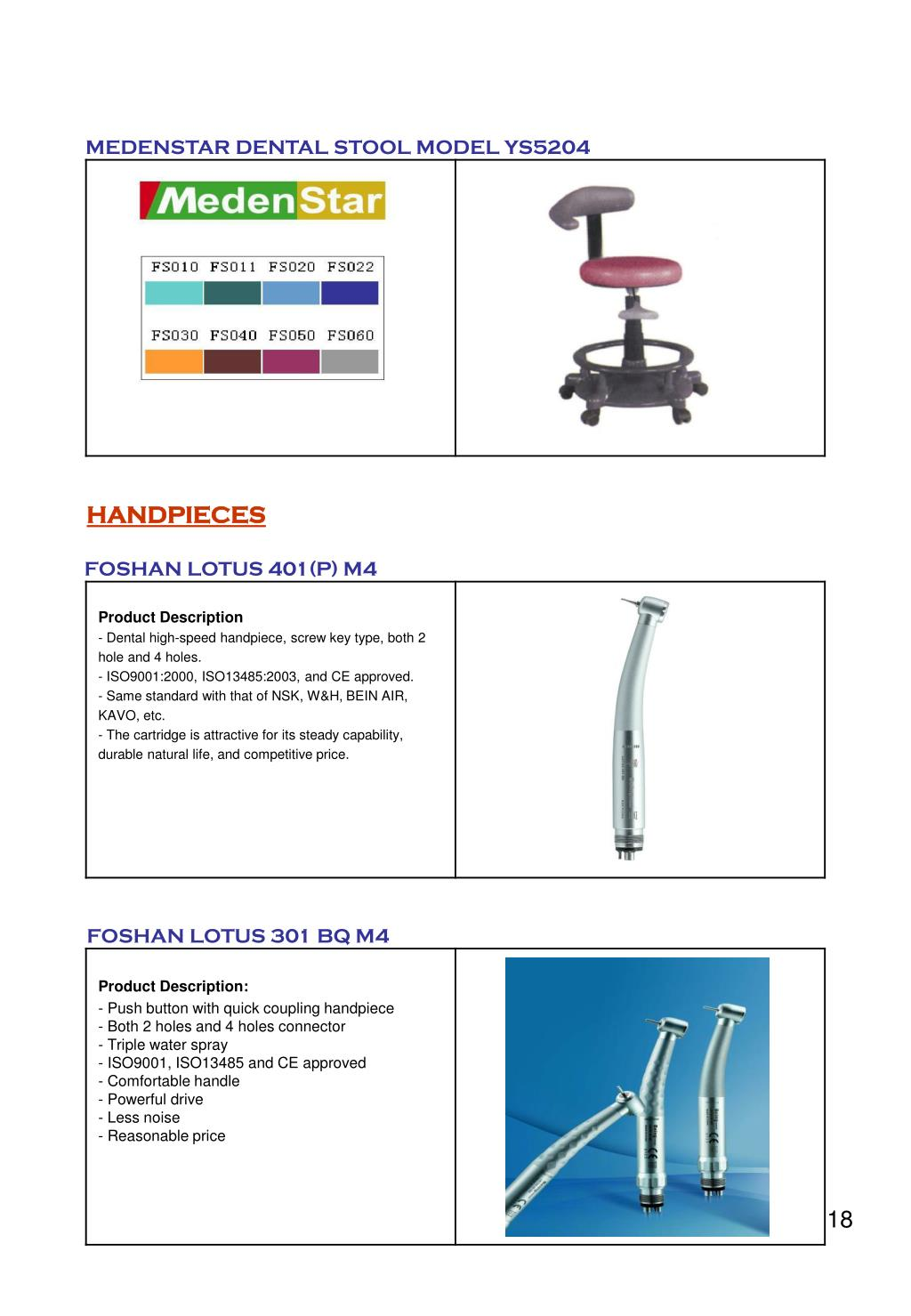 MEDENSTAR DENTAL STOOL MODEL YS5204
