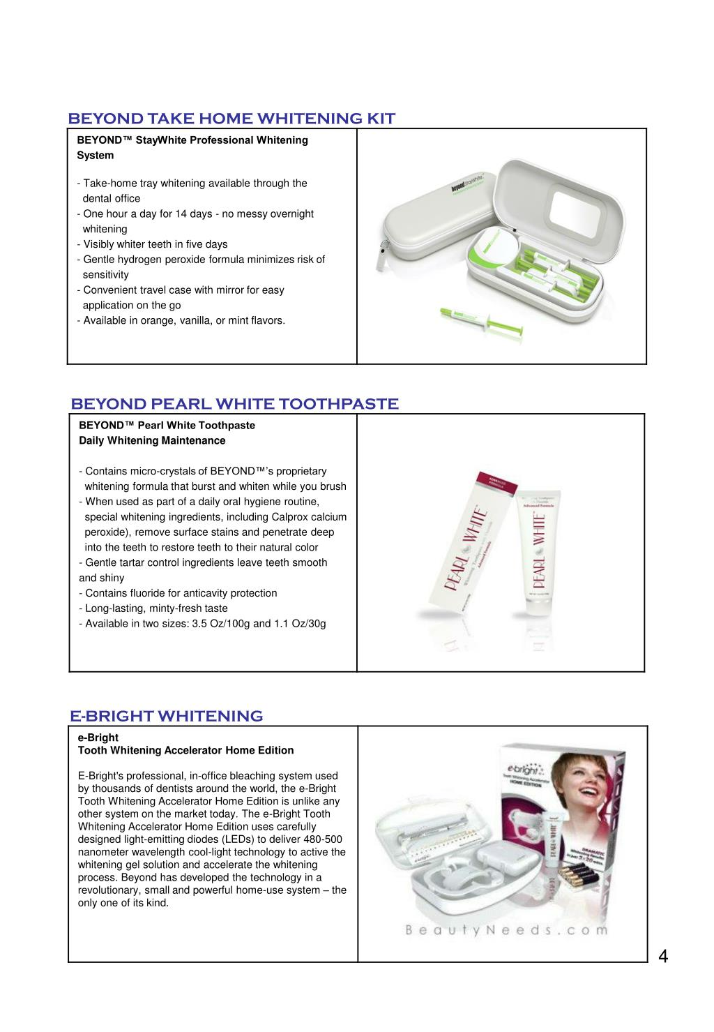 BEYOND TAKE HOME WHITENING KIT