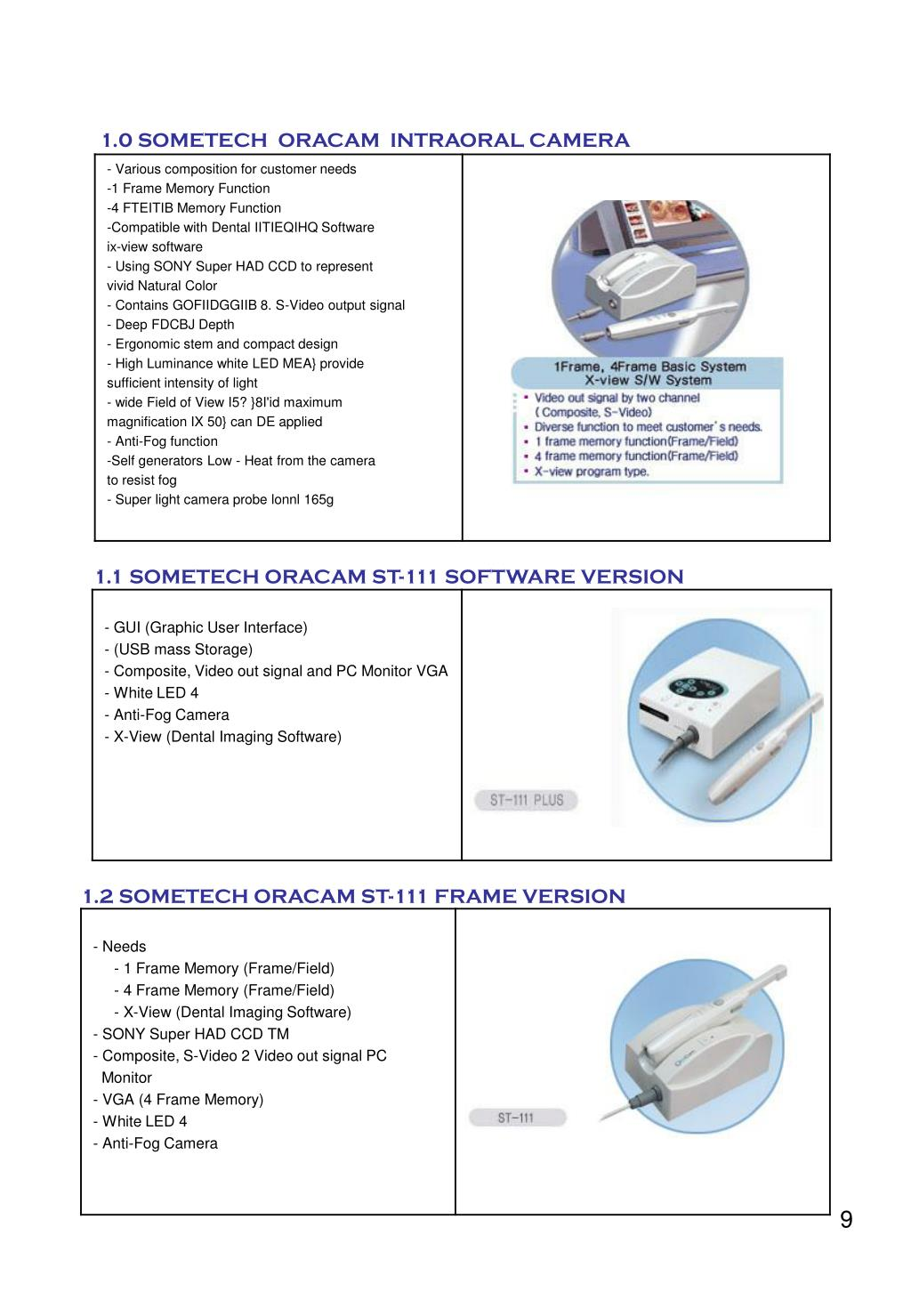 1.0 SOMETECH  ORACAM  INTRAORAL CAMERA