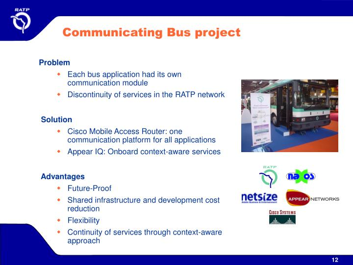 Communicating Bus project