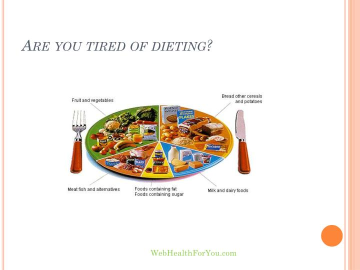 Are you tired of dieting