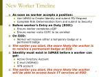 new worker timeline