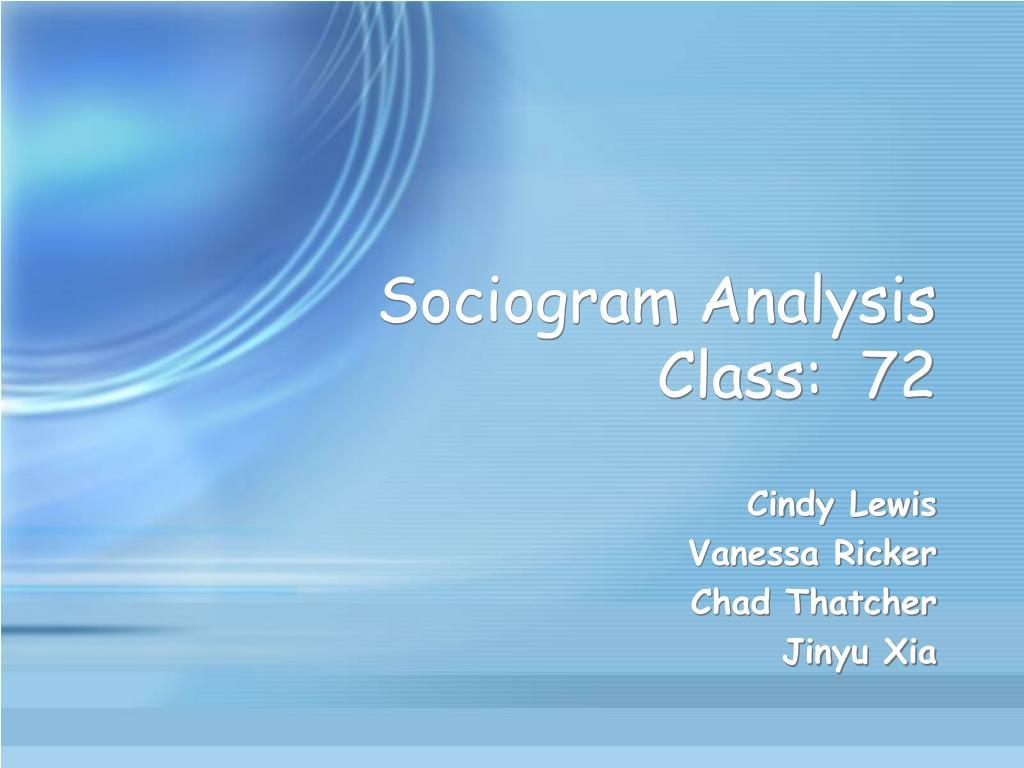 sociogram analysis class 72 l.