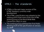 html5 the standards