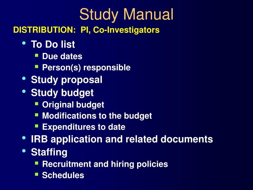 Study Manual