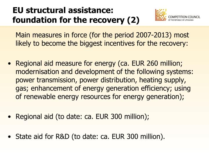 EU structural assistance: foundation for the recovery (2)