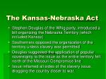 the kansas nebraska act