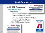 aha resources