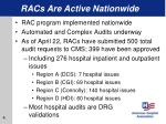 racs are active nationwide