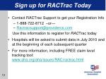 sign up for ractrac today