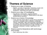 themes of science