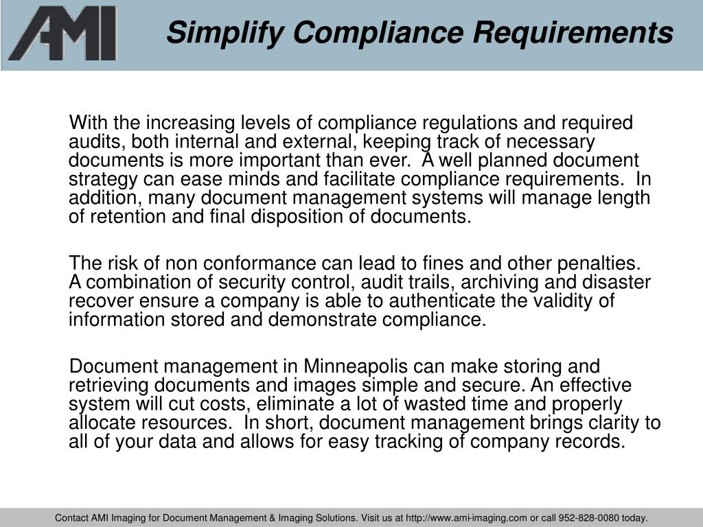 Simplify Compliance Requirements