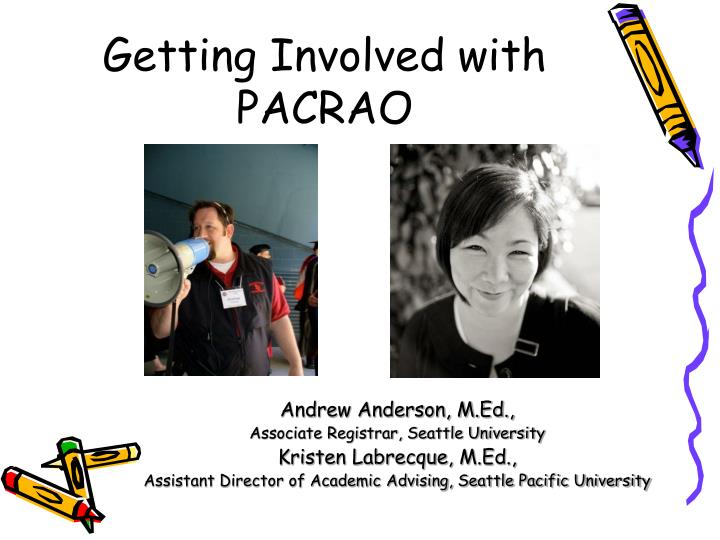 Getting involved with pacrao