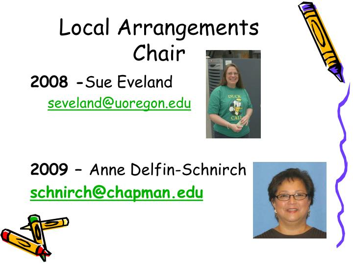 Local Arrangements Chair