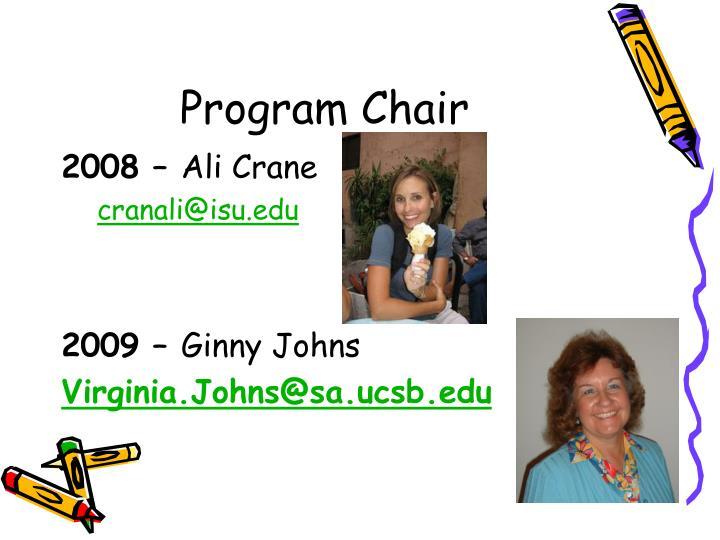 Program Chair
