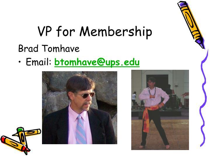 VP for Membership