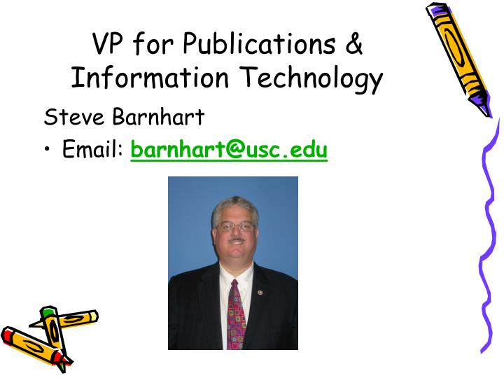 VP for Publications & Information Technology