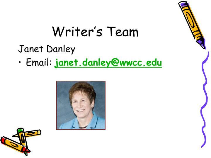Writer's Team