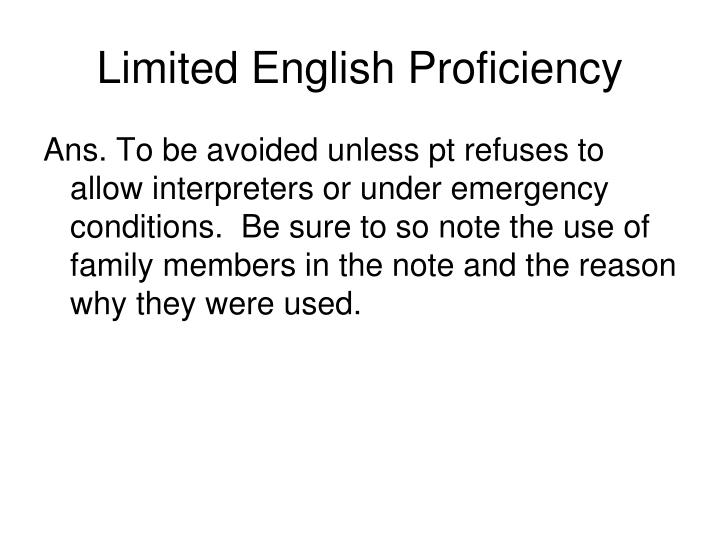 Limited english proficiency1