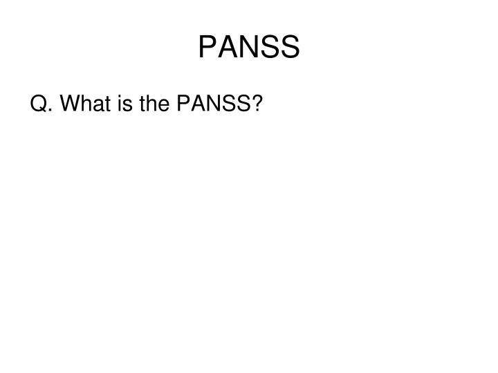 PANSS