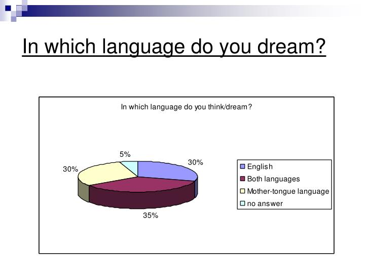 In which language do you dream?