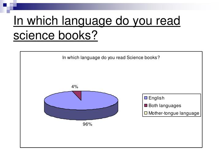 In which language do you read science books?