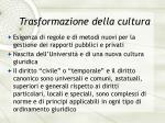 trasformazione della cultura