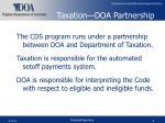taxation doa partnership