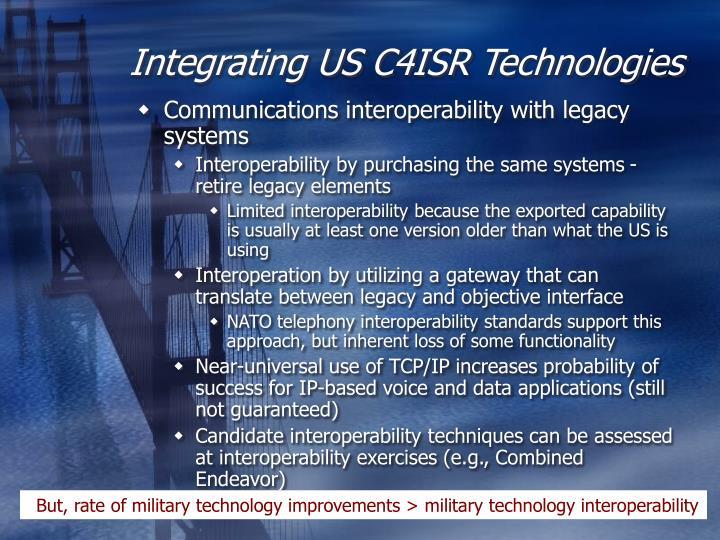 Integrating US C4ISR Technologies