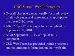 grc status web information