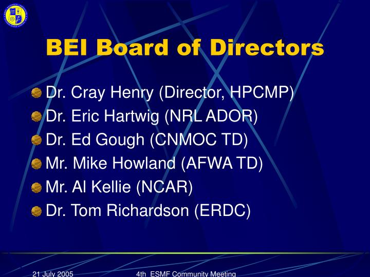 BEI Board of Directors