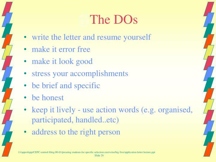 The DOs