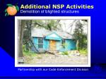 additional nsp activities demolition of blighted structures