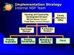 implementation strategy internal nsp team