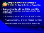implementation strategy option a county initiated acquisition