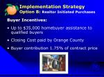 implementation strategy option b realtor initiated purchases1