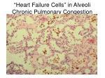 heart failure cells in alveoli chronic pulmonary congestion