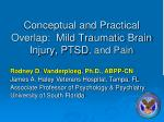 conceptual and practical overlap mild traumatic brain injury ptsd and pain
