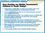 how healthy are middle tennessee s children youth today