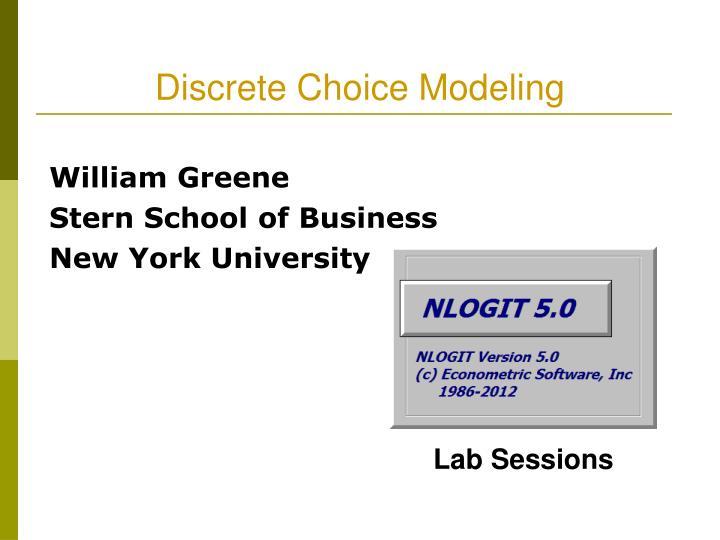 william greene stern school of business new york university n.